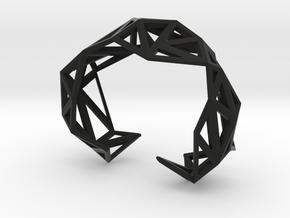 TRIANGULATED CUFF     in Black Premium Versatile Plastic: Extra Small