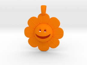 01 - Smiley Face/ DAISY in Orange Processed Versatile Plastic