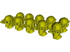 1/48 scale SOCOM operator B helmet & heads x 10 in Smoothest Fine Detail Plastic