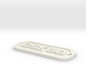 CS:GO Dog Tag in White Strong & Flexible