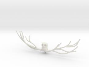 Owl pendant in White Premium Versatile Plastic