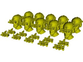 1/48 scale SOCOM operator B heads & NVG x 20 combo in Smoothest Fine Detail Plastic