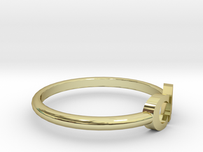 CA ring size 6.5 in 18k Gold Plated Brass
