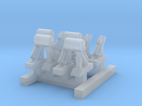 WW2_DC Guns_4Loaded_4Unloaded in Smooth Fine Detail Plastic