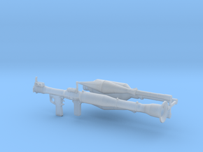 1/12th RPG launcher in Smooth Fine Detail Plastic