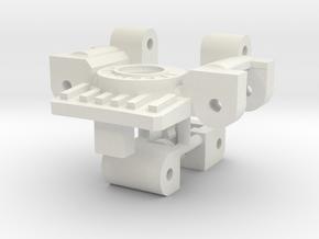 Titans Return Bumblebee Arm / Neck Swivel Hinge in White Premium Versatile Plastic