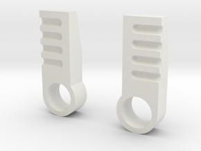 iGear Hench Brawn Stablising Heel Spurs - SFP in White Premium Versatile Plastic