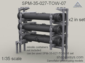 1/35 SPM-35-027-TOW-07 TOW missile containers rack in Smoothest Fine Detail Plastic