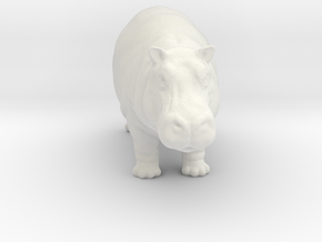 Printle Thing Hippo - 1/87 in White Natural Versatile Plastic