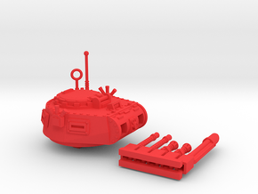 28mm Zerber APC turret + multiple guns in Red Strong & Flexible Polished