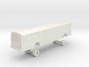 HO Scale Bus Gillig Phantom Capital Metro 1100s in White Natural Versatile Plastic