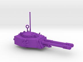 28mm APC turret with 2x auto guns in Purple Processed Versatile Plastic