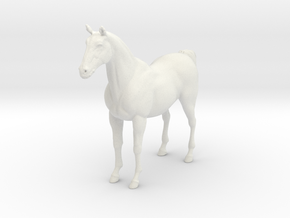 Printle Thing Horse - 1/48 in White Natural Versatile Plastic