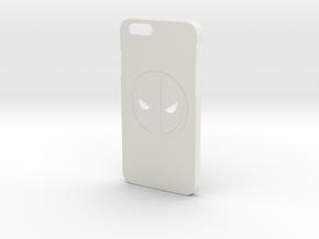iPhone 6/6S Deadpool Case in White Natural Versatile Plastic