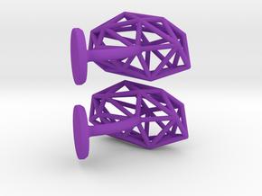 Cufflinks Geometric in Purple Processed Versatile Plastic