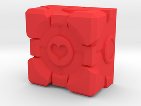 Companion Cube Cherry MX Keycap in Red Processed Versatile Plastic
