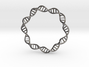 DNA Bracelet (63 mm) in Polished Nickel Steel