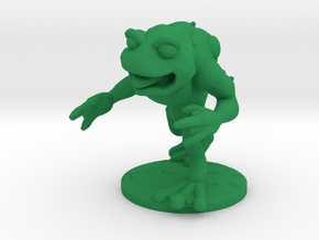 Unemployed Mutant Frog in Green Processed Versatile Plastic: Small