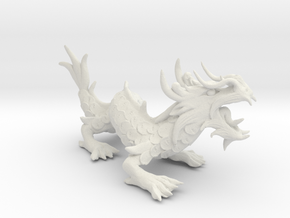 Chinese Dragon in White Natural Versatile Plastic
