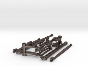 Valve Gear Parts in Polished Bronzed Silver Steel