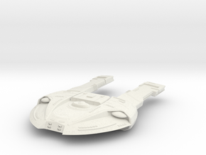Steamrunner Class Refit C  GunDestroyer in White Natural Versatile Plastic