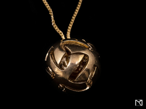 Ball Pendant in Natural Brass