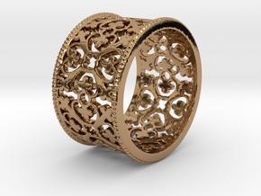 QUADRIFOGLIA bords grains Ring Size 7.5 in Polished Brass: 7.5 / 55.5
