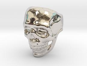 Big Bad Skull Ring in Platinum