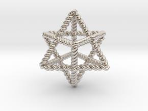"""Star Twistahedron 1.6+"""" in Rhodium Plated Brass"""