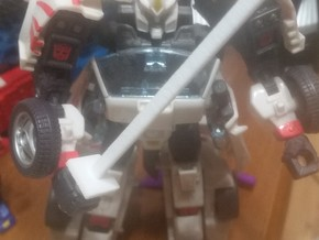 Simple transformers ninja sword in White Natural Versatile Plastic