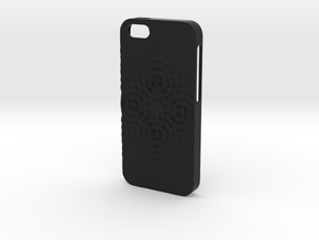 iPhone SE Case_Ripples in Black Premium Strong & Flexible