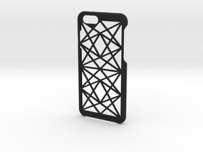 Thin Geometric iPhone 6/6s/7 Case in Black Natural Versatile Plastic