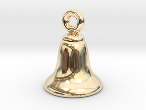 Silver Bell Charm #1 - Small in 14K Yellow Gold