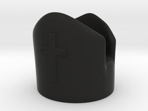 Bishop in Black Premium Versatile Plastic