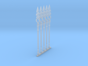 Techno-Spear 003a (x5) in Smooth Fine Detail Plastic