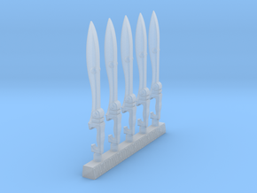 Techno-Kopis (x5) in Smooth Fine Detail Plastic