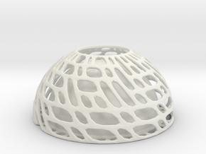 Bowl Twist  in White Natural Versatile Plastic