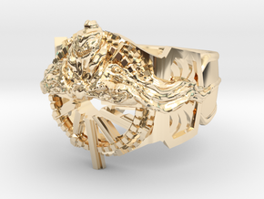 final fantasy Ring Of The Lucii in 14k Gold Plated Brass: 8.5 / 58
