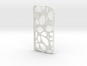 iPhone 6 / 6S Case_Voronoi in White Premium Versatile Plastic