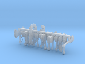 Chainaxes Set 1 in Smooth Fine Detail Plastic
