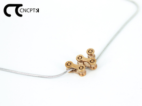 Concept R Chain Pendant in Natural Bronze