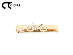Concept R Racing Bike Tie Clip  in Natural Bronze