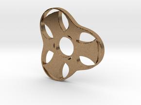 Trefoil Spinner - Red Strong & Flexible in Natural Brass