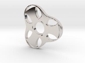 Trefoil Spinner - Red Strong & Flexible in Platinum