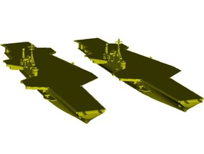 1/1250 scale USS Midway CV-41 aircraft carrier x 2 in Smooth Fine Detail Plastic