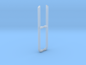 HO 5in Exhaust Stacks in Smooth Fine Detail Plastic