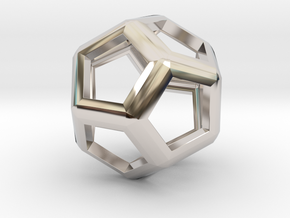 Dodecahedron in Platinum
