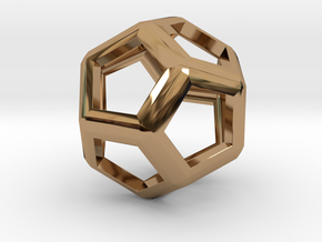 Dodecahedron in Polished Brass