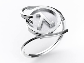 Half-life Ring in Polished Silver