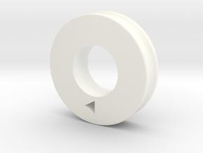 pulley_mpm_2345 in White Processed Versatile Plastic